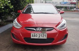 Selling Red Hyundai Accent 2014 Hatchback Automatic Diesel in Manila