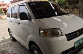 White Suzuki Apv 2012 Manual Gasoline for sale