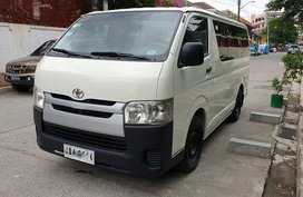 White Toyota Hiace 2014 for sale in Quezon City