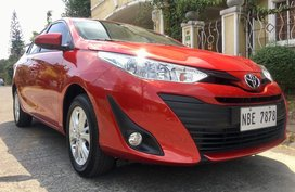 Red Toyota Vios 2018 Sedan Automatic Gasoline for sale in Manila