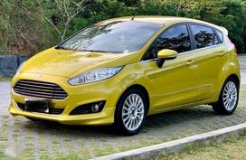 Yellow Ford Fiesta 2016 Hatchback Automatic Gasoline for sale in Manila