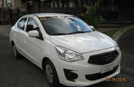 Selling White Mitsubishi Mirage G4 2014 Automatic Gasoline in Quezon City