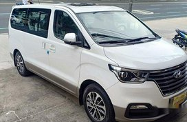 White Hyundai Grand Starex 2018 Automatic Gasoline for sale