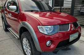 Sell Red 2009 Mitsubishi Strada Truck Manual Diesel