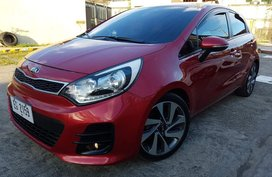 Red Kia Rio 2016 Hatchback Automatic for sale in Pasig