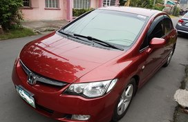 Red Honda Civic 2008 at 71376 km for sale