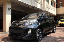 2nd Hand 2017 Kia Picanto Hatchback for sale in Quezon City