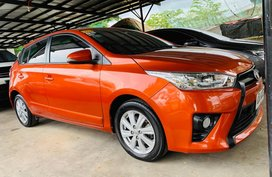 Orange 2015 Toyota Yaris Hatchback for sale in Isabela