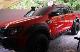 Orange 2013 Ford Ranger at 45560 km for sale in Davao City