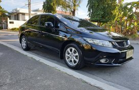 Black Honda Civic 2015 Automatic Gasoline for sale in Las Pinas