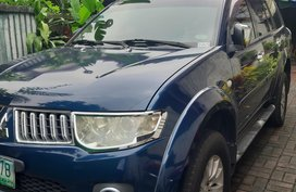 Blue 2011 Mitsubishi Montero Sport at 73000 km for sale in Quezon City