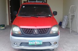 Selling Red Mitsubishi Adventure 2009 Manual Diesel
