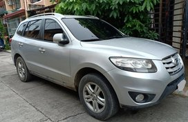 Silver 2010 Hyundai Santa Fe at 75000 km for sale in Cabuyao