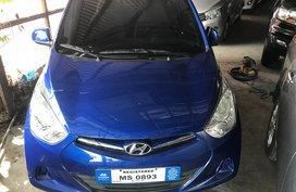 Selling Blue Hyundai Eon 2017 at 7423 km in Cebu