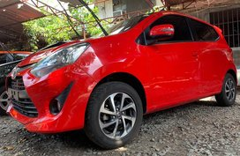 Sell Red 2019 Toyota Wigo at 2300 km