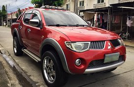 Red Mitsubishi Strada 2009 Truck for sale in Angeles