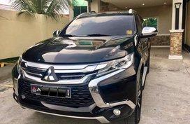 Black Mitsubishi Montero Sport 2016 at 72000 km for sale in Davao City