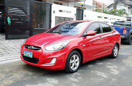 Red 2012 Hyundai Accent Automatic Gasoline for sale