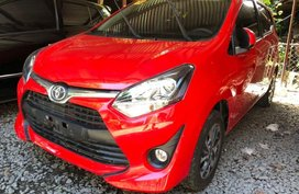 Red Toyota Wigo 2018 for sale in Quezon City