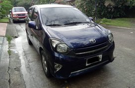 Sell Blue 2014 Toyota Wigo Hatchback Automatic in Las Pinas