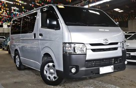 Silver 2017 Toyota Hiace Diesel Manual for sale in Quezon City
