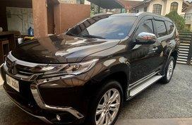 Selling Brown Mitsubishi Montero Sport 2017 Automatic Diesel