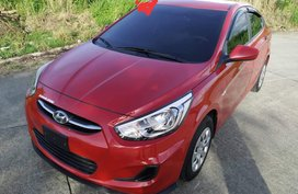 Red Hyundai Accent 2018 Sedan at 10000 km for sale