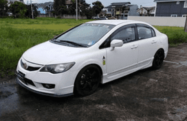 Selling White Honda Civic 2009 at 35018 km in Manila