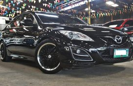 Black 2011 Mazda 6 Sedan at 68000 km for sale in Quezon City