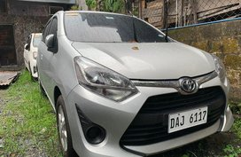 Silver Toyota Wigo 2019 for sale in Quezon City
