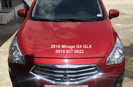 Red 2018 Mitsubishi Mirage G4 Sedan at 7400 km for sale