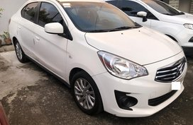 Sell White 2018 Mitsubishi Mirage G4 at 14000 km in Cavite