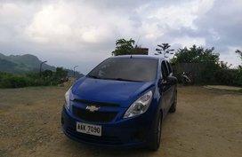 Blue Chevrolet Spark 2014 Hatchback at 38000 km for sale