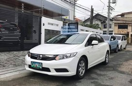 White 2013 Honda Civic for sale in Pasig