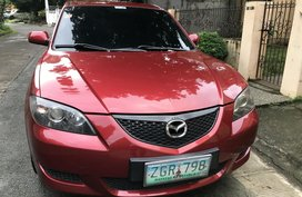 Sell Red 2007 Mazda 3 at 79000 km in Metro Manila