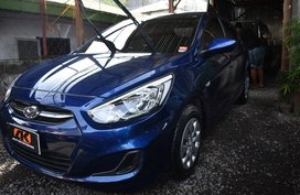 Blue Hyundai Accent 2017 for sale in Davao City