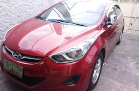 Red Hyundai Elantra 2013 Sedan at 51000 km for sale