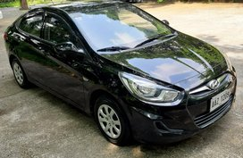 Black 2014 Hyundai Accent Manual Gasoline for sale