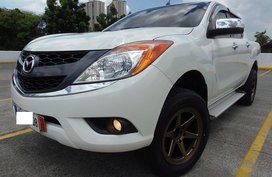 White 2015 Mazda Bt-50 Automatic Diesel for sale in Quezon City