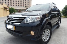 Black 2014 Toyota Fortuner at 28000 km for sale in Quezon City