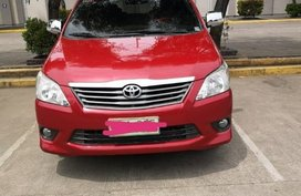 Sell Red 2014 Toyota Innova Manual at 63000 km