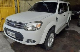 Sell White 2014 Ford Everest Automatic Diesel at 88000 km