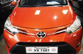 Orange Toyota Vios 2017 Sedan for sale in Manila