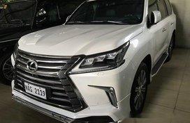 White Lexus Lx 2017 Automatic Diesel for sale
