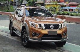 Orange Nissan Navara 2017 for sale in Quezon City