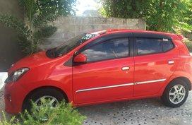 Sell Red 2015 Toyota Wigo Hatchback at 47000 km