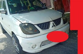 Selling White Mitsubishi Adventure 2003 Manual Diesel