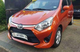 Orange Toyota Wigo 2019 Manual Gasoline for sale
