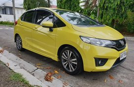 Yellow Honda Jazz 2015 Hatchback at 45000 km for sale