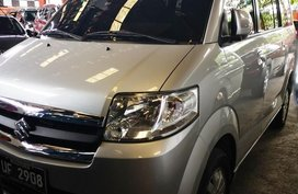 Silver Suzuki Apv 2017 Automatic Gasoline for sale